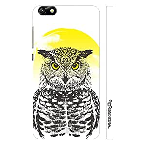 Huawei Honor 4X Owl Rising designer mobile hard shell case by Enthopia