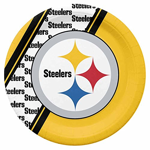 NFL Pittsburgh Steelers Disposable Paper Plate (20-Pack) from Duck House Sports