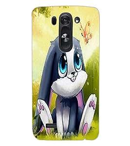 ColourCraft Cute Rabbit Design Back Case Cover for LG G3 BEAT