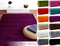Modern Shaggy Rug Colors - 6 Sizes and 12 Colors Available by floor factory