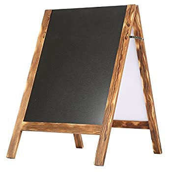 Wood A-Frame Double-Sided Chalkboard,