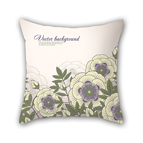 NICEPLW Flower Cushion Cases ,best For Kitchen,dinning Room,gf,boy Friend,adults,sofa 20 X 20 Inches / 50 By 50 Cm(each Side)