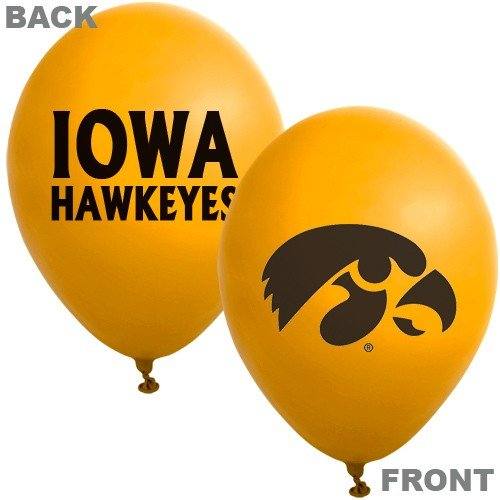 "NCAA Iowa Hawkeyes Gold 10-Pack 11"" Latex Balloons - 1"