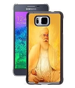 Fuson 2D Printed Lord Guru Nanak Designer Back Case Cover for Samsung Galaxy Alpha - D526