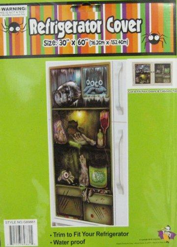 1 Halloween Door Cover Creepy Refrigerator Shelves  ~ 185336_Halloween Refrigerator Door Cover
