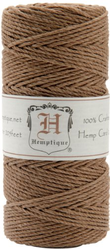 Hemptique Hemp Cord Spool, 20-Pound, Light Brown (Hemp Wire compare prices)