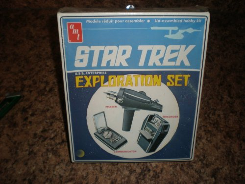 Vintage Star Trek 1974 Model Kit By Amt U.S.S. Enterprise Exploration Set of the Communicator Tricorder and Phaser