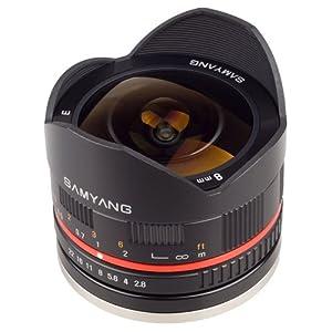 Samyang 8 mm Fisheye F2.8 Manual Focus Lens for Fuji X - Black