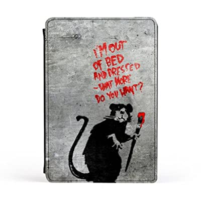 Banksy Rat Out of Bed Premium Faux PU Leather Case, Protective Hard Cover Flip Case for Apple® iPad Mini by Banksy + FREE Crystal Clear Screen Protector
