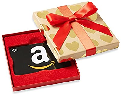 Amazon.com Gift Cards - In Gold Heart Box (Black Classic Card Design)