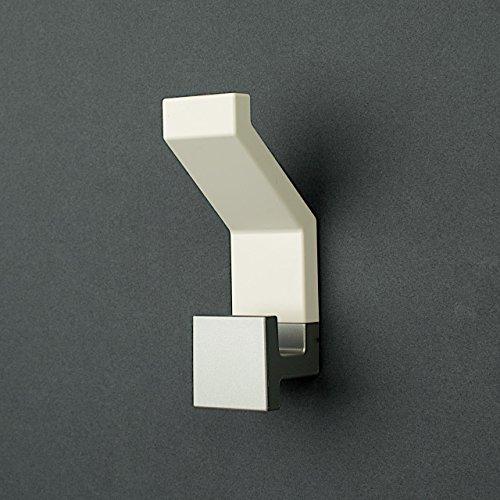 Appendiabiti da parete square by kreall colore bianco in abs verniciato progettato e prodotto - Appendiabiti da bagno ...