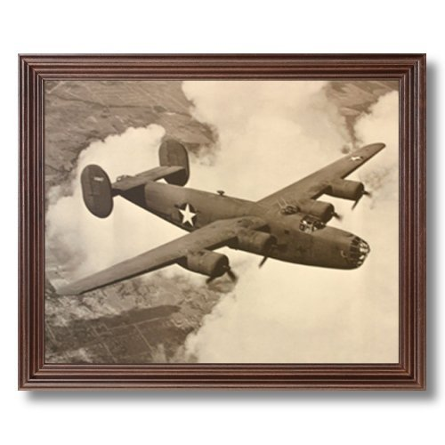 Fashion Stylish B-24 Liberator Bomber Military Aircraft Jet Airplane Picture Framed Art Print