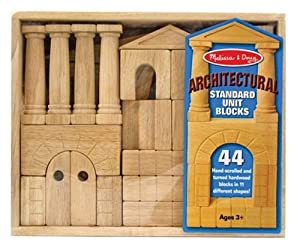 Melissa & Doug Architectural Unit Block Set