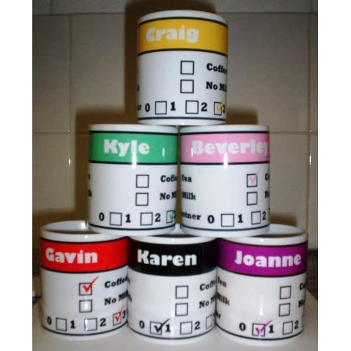 Personalised Office Mug - with your name on! (qty 1)