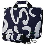 Netbook/Notebook Hard Case 10.2-Inch color Blue/White with shoulder strap