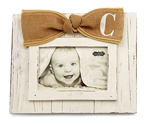 Mud Pie Planked Monogram Bow Frame, C - 1