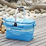 Lakeland Sea Breeze Picnic Large Insulated Cool Bag Basket with Handle 21L