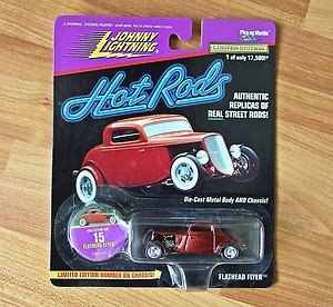 Johnny Lightning Dark Red Flathead Flyer #15 Hot Rods 1997
