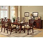 Metro Shop Furniture of America Harper 7-Piece Formal Cherry Dining Set-Cherry