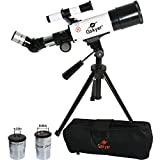 Gskyer Refractor 60mm Apeture 350mm Desktable Tripod- Wide Bright Multicoated Eyepiece Maximum to 25mm Dia-sturdy Stainless Tripod- Good Partner to View Moon and Planet Just At Your Home-with Handy Bag