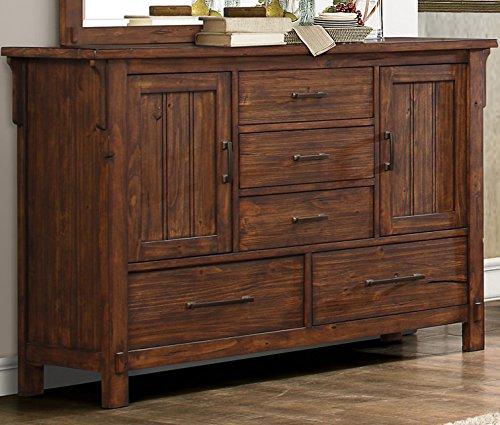 Rustic Burnished Oak Bedroom Furniture (Dresser)