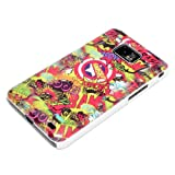 DeinPhone Comic Boom Hardcase Cover Bumper for Samsung Galaxy S2 i9100 S2 PLUS i9105 S II - Red