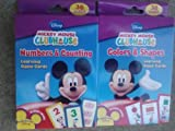 Disney Mickey Mouse Flash Cards (Set of 2 Decks). Colors & Shapes and Numbers & Counting Learning Game cards