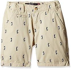 Bare Kids Boys' Shorts (BB/SS16/shorts/92_Beige_13 - 14 years)