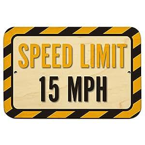 X 15 Speed Amazon.com : Speed Limit 15 MPH 9