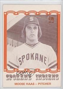 Moose Haas Bryan Haas (Baseball Card) 1976 Spokane Indians Caruso #10 by Spokane Indians Caruso