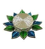 The Divine Luxury T-Light Peacock Leaf