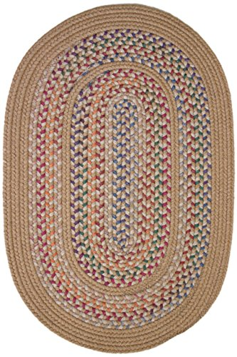 Rhody Rug Traditions Wheat 2-Feet by 3-Feet Braided Rug