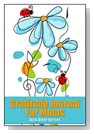 Blue Flowers With Ladybugs Gratitude Journal For Moms