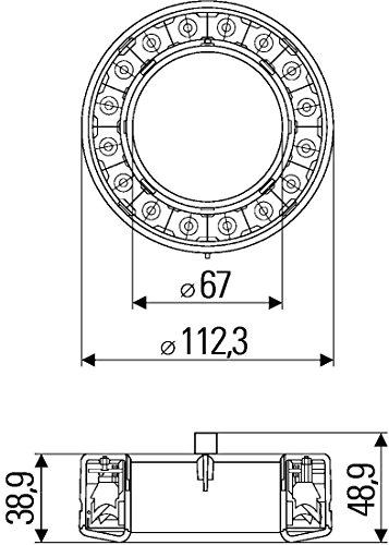 Hella 8XU 009 362-111 Cornice Posteriore