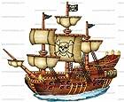 1/4 ~ Pirate Ship Birthday ~ Edible Image Cake/Cupcake Topper!!!