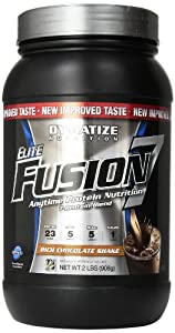 Dymatize Nutrition Elite Fusion-7 Protein Powder, Rich Chocolate Shake, 2 Pound