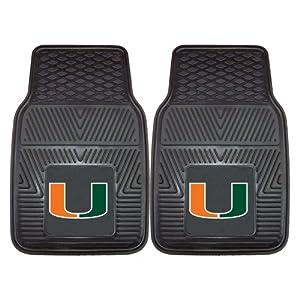 Buy FANMATS NCAA University of Miami Hurricanes Vinyl Heavy Duty Vinyl Car Mat by Fanmats