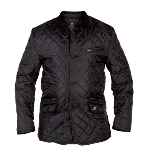 Duke Big Mens Kingsize Black Quilted Jacket (1XL-6XL)