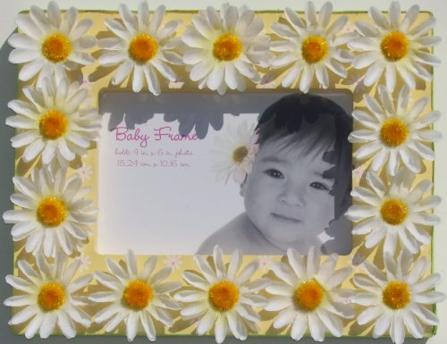 "Baby Essentials Themed Baby Frame 4"" x 6"" PINK, BLUE, YELLOW (Yellow)"