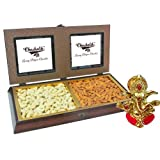Chocholik Premium Gifts - Amazing Dry Fruit Combination With Ganesha Idol - Diwali Gifts