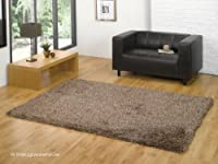 Santa Cruz Luxury Beige Shaggy Rug 120x170cm (4'x5'6'') from The Rugs Warehouse
