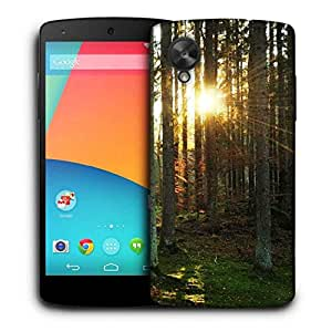 Snoogg Abstract Sunlight In Forest Printed Protective Phone Back Case Cover For LG Google Nexus 5