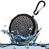 SoundSOUL Splashproof Shower Speaker Bluetooth Wireless Portable Waterproof Speaker(IPX6 Waterproof,Built-In Mic For Hands Free)-Black