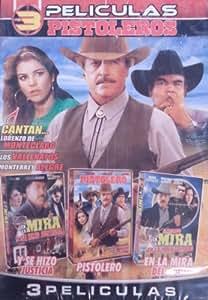 3 Peliculas Pistoleros: Y Se Hizo Justicia, Pistolero, En La Mira Del Odio.