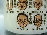 【美濃焼】歴代 総理大臣 湯飲み (麻生太郎氏の似顔絵入り)