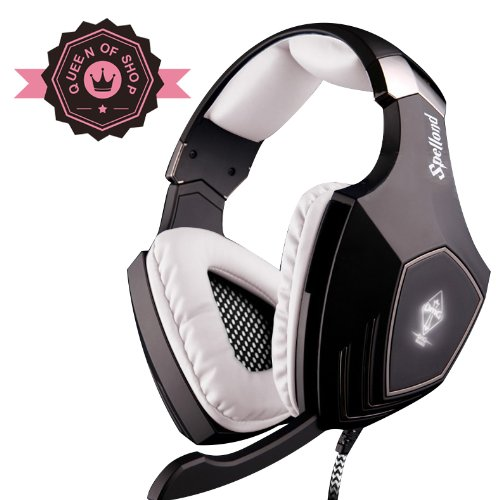 Sades A60 Black+White Stereographic Triangle Omg Special Model Usb Sound Insulation Computer Game Video Motion Headset With Flash Led