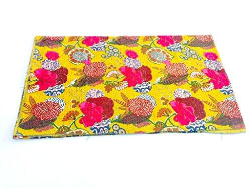 Para artes marciales Shivay 100% algodón Reversible para cama de matrimonio hecha a mano posavasos con diseño de funda de edredón Kantha Multicolor