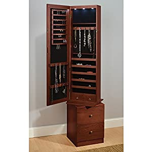 Hammacher Schlemmer Swivel Jewelry and Accessories Armoire