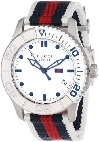 Gucci Unisex YA126239 G Timeless Blue Red blue Web design on the strap Sport Watch