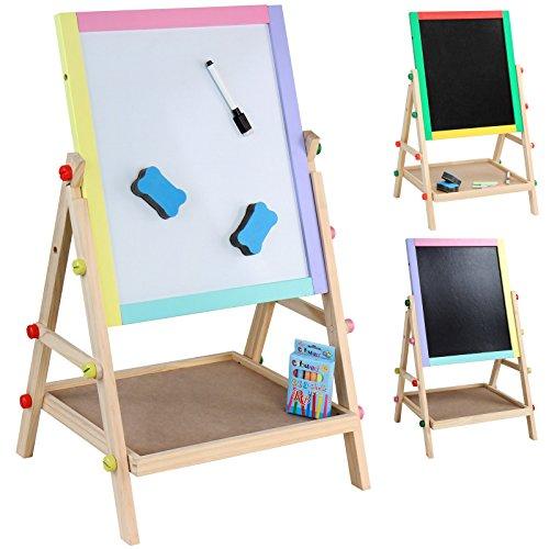 Infantastic-Pizarra-para-nios-2-en-1-pizarra-magntica-pizarra-para-pintar-de-madera-con-accesorios-aprox-6441335-cm-colores-a-elegir